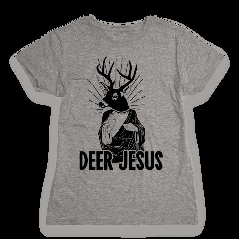 Deer Jesus Womens T-Shirt