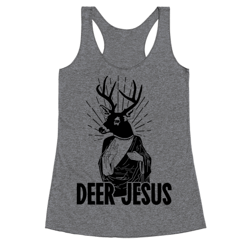 Deer Jesus Racerback Tank Top