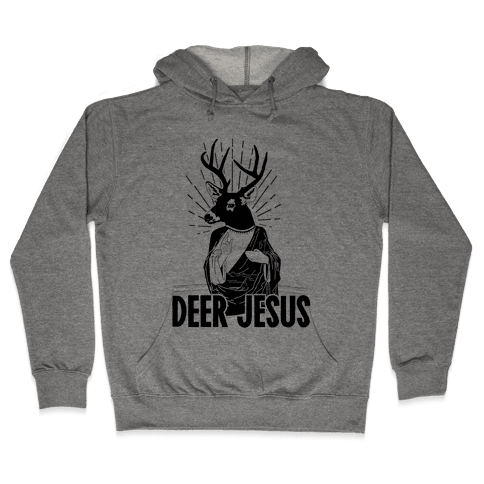 Deer Jesus Hooded Sweatshirt