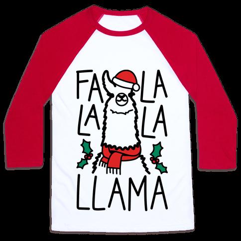Falalala Llama Baseball Tee