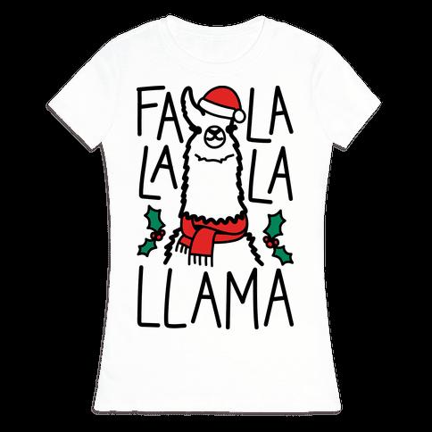 Falalala Llama Womens T-Shirt