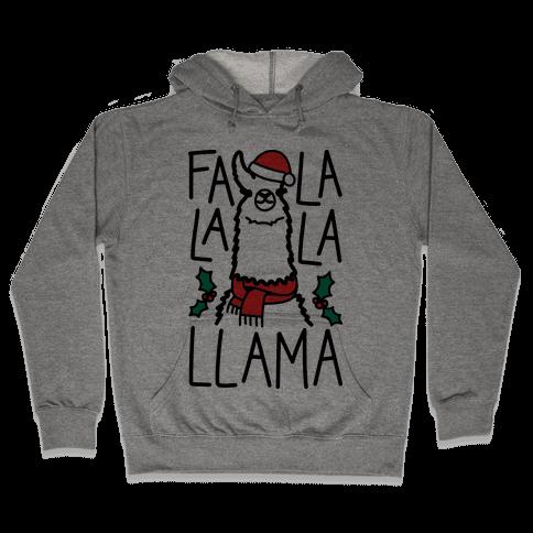 Falalala Llama Hooded Sweatshirt