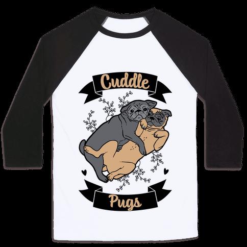 Cuddle Pugs Baseball Tee