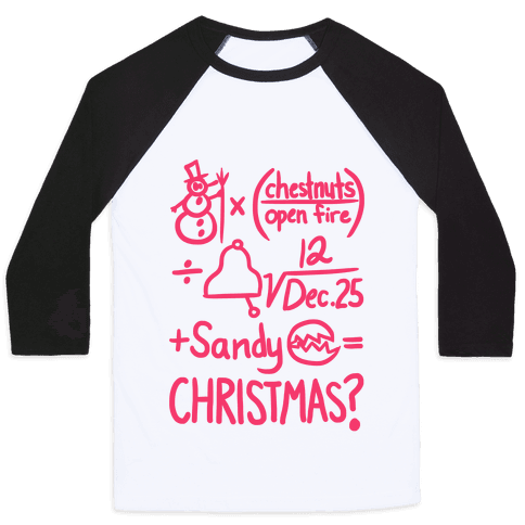 Christmas Equation Baseball Tee