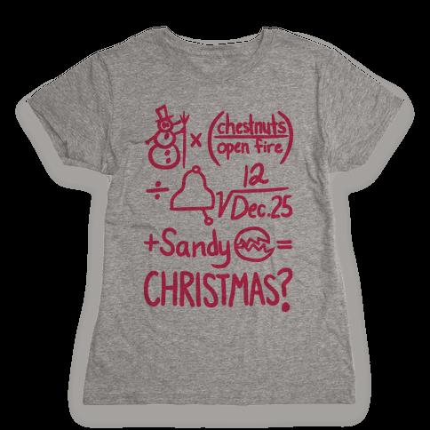 Christmas Equation Womens T-Shirt