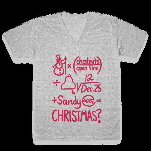 Christmas Equation V-Neck Tee Shirt