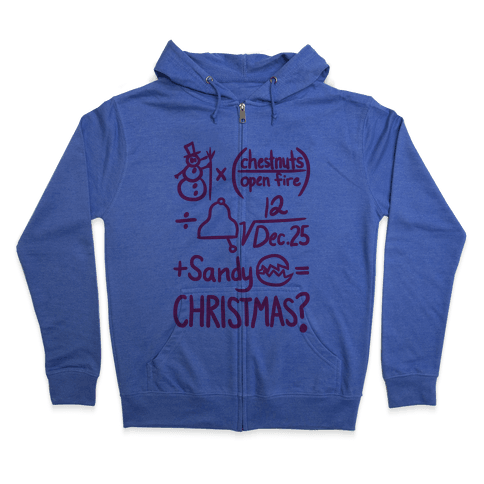 Christmas Equation Zip Hoodie