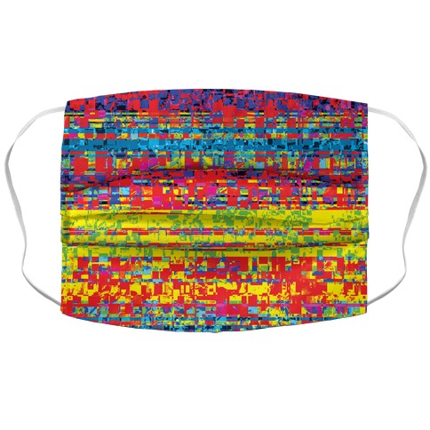 Glitch pattern Accordion Face Mask