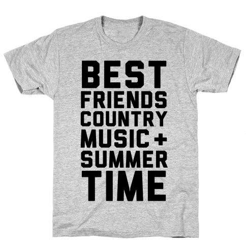 Best Friends, Country Music + Summer Time Mens T-Shirt