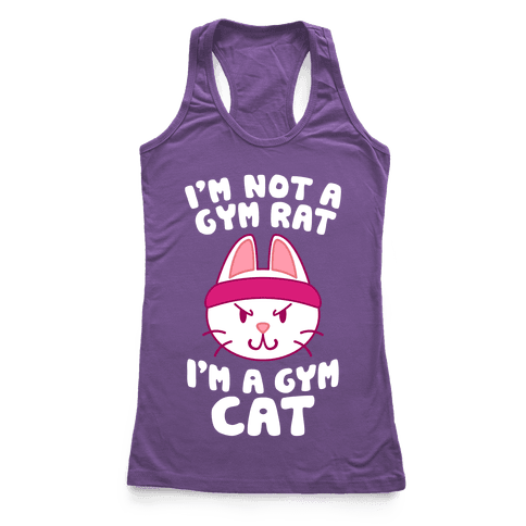I'm A Gym Cat Racerback Tank Top
