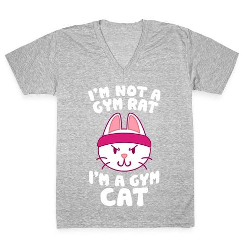 I'm A Gym Cat V-Neck Tee Shirt