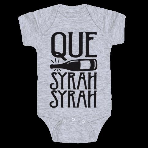 Que Syrah Syrah Baby Onesy