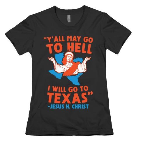Texas Jesus Womens T-Shirt