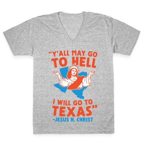Texas Jesus V-Neck Tee Shirt