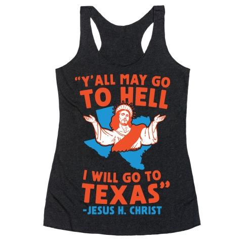Texas Jesus Racerback Tank Top