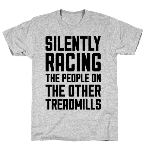 Silently Racing Mens T-Shirt