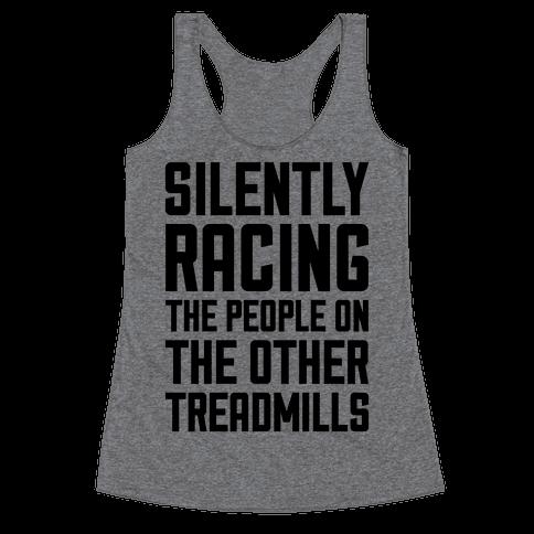 Silently Racing Racerback Tank Top