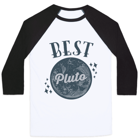 Best Friends Pluto & Charon (Pluto Half) Baseball Tee