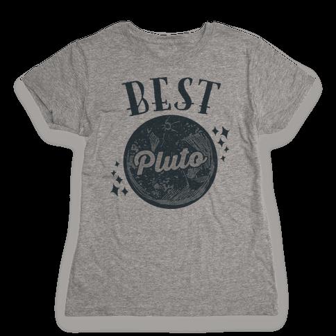 Best Friends Pluto & Charon (Pluto Half) Womens T-Shirt