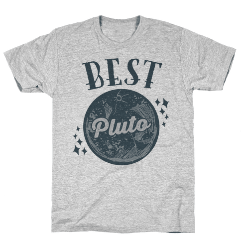 Best Friends Pluto & Charon (Pluto Half) Mens T-Shirt