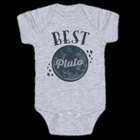 Best Friends Pluto & Charon (Pluto Half) Baby Onesy