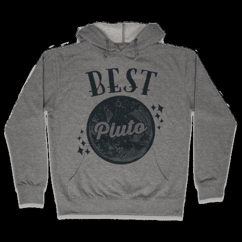 Best Friends Pluto & Charon (Pluto Half) Hooded Sweatshirt