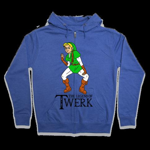 The Legend of Twerk Zip Hoodie