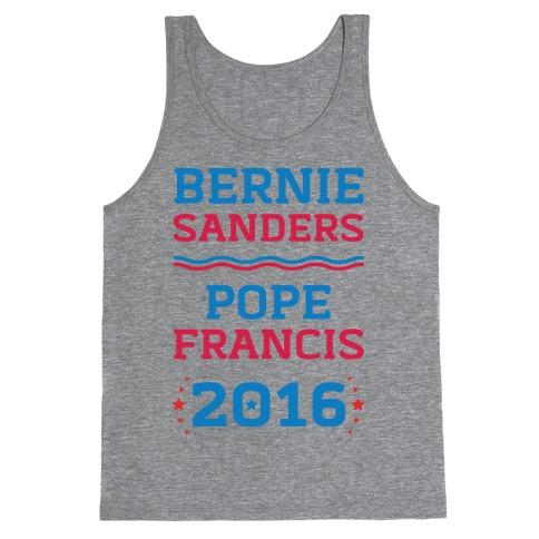 Bernie Sanders / Pope Francis 2016 Tank Top