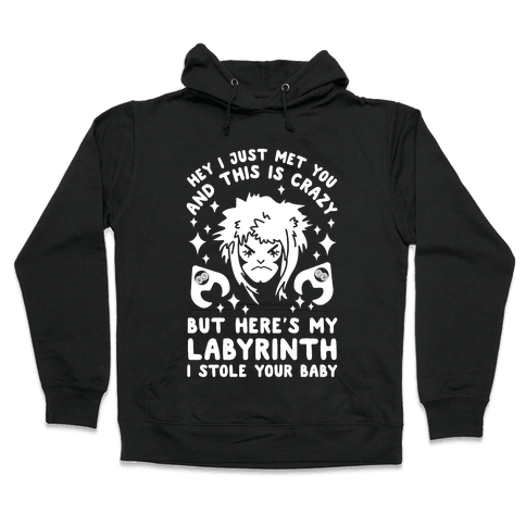 I Just Met You and This is Crazy But Here's my Labyrinth I Stole Your Baby Hooded Sweatshirt