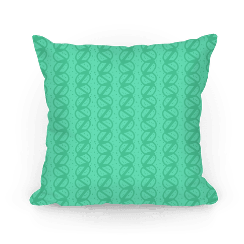 Green Braid Stripe Pattern Pillow