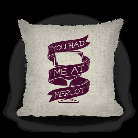 Throw Me A Pillow Coupon Code : You Had Me at Merlot Throw Pillow LookHUMAN
