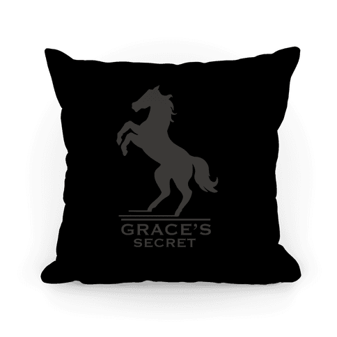Grace's Secret Faux Fashion Logo Pillow