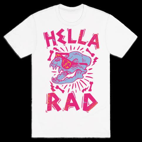 Hella Rad Skull Mens T-Shirt