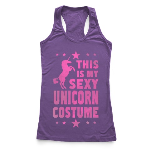 This is My Sexy Unicorn Costume! Racerback Tank Top