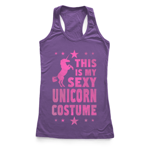 This is My Sexy Unicorn Costume! Racerback Tank Top