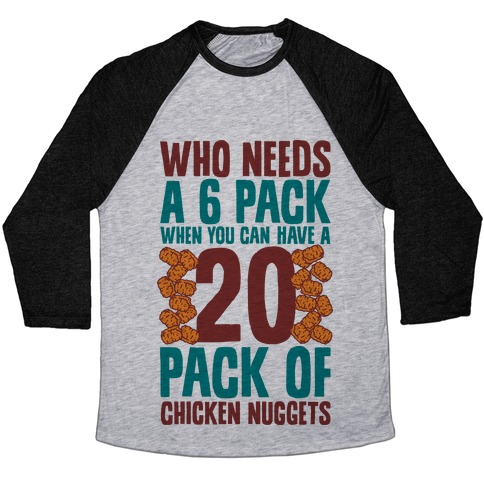 Who Needs a 6 Pack When You Can Have a 20 Pack Baseball Tee