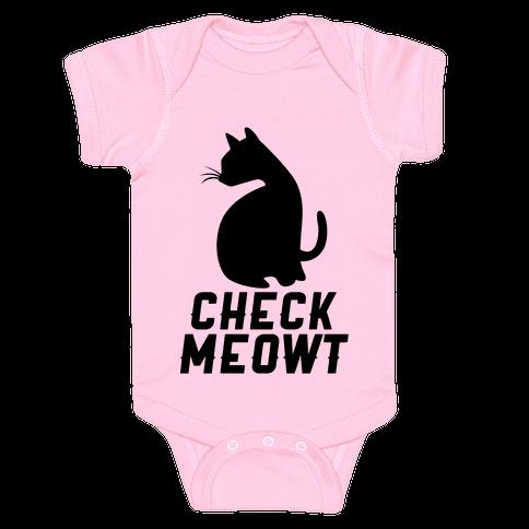 Check Meowt Baby Onesy