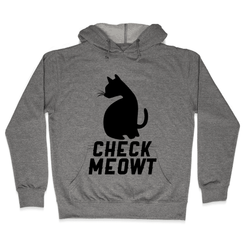 Check Meowt Hooded Sweatshirt