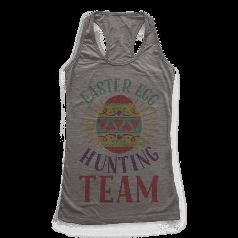Easter Egg Hunting Team Racerback Tank Top