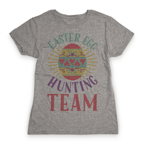 Easter Egg Hunting Team Womens T-Shirt
