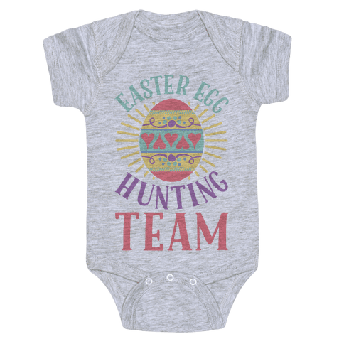 Easter Egg Hunting Team Baby Onesy