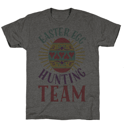 Easter Egg Hunting Team Mens T-Shirt