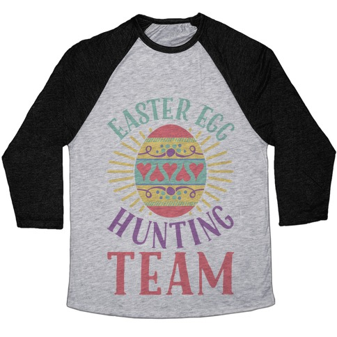 Easter Egg Hunting Team Baseball Tee