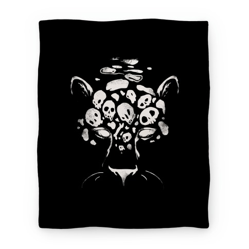 Spooky Skulls Jaguar Blanket