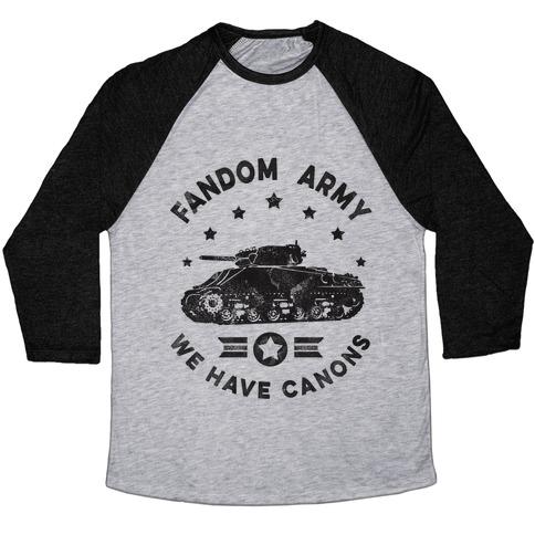 Fandom Army Baseball Tee