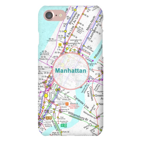 Manhattan Transit Map Phone Case