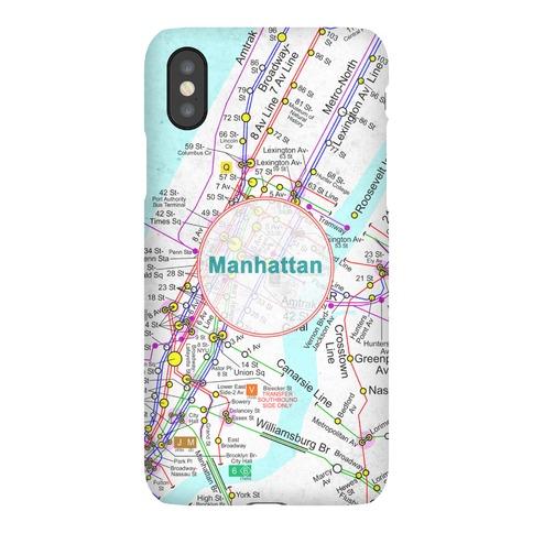 Manhattan Transit Map Phone Case