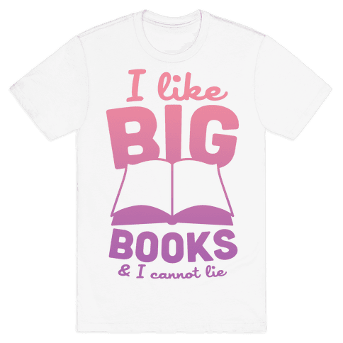 I Like Big Books And I Cannot Lie (Pink) Mens T-Shirt