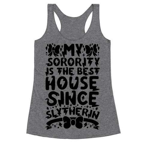 Slytherin Sorority Racerback Tank Top