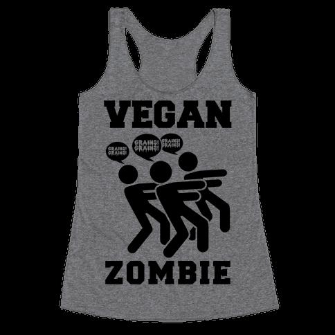 Vegan Zombie Racerback Tank Top